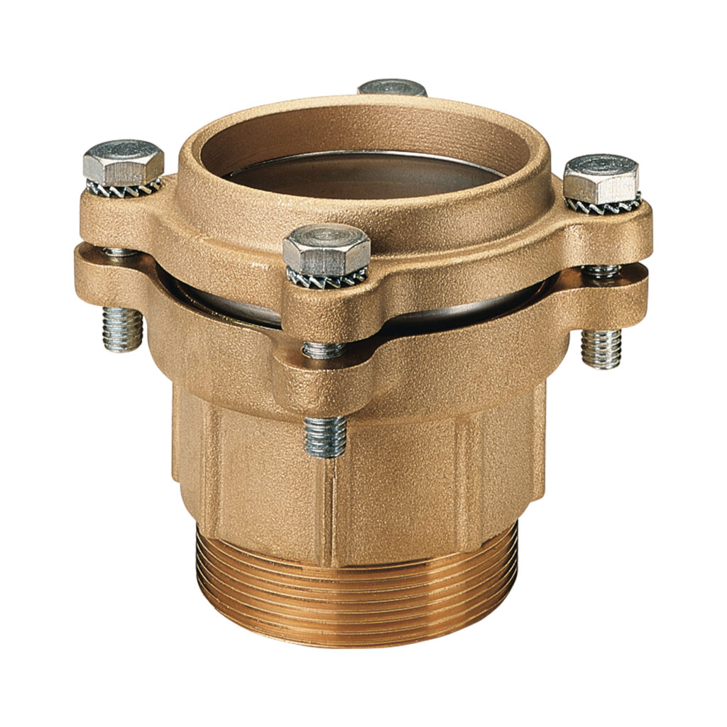 Straight male connector, with flanges - 015FL