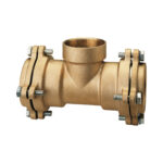 Female branch T coupling, with flanges - 035FL