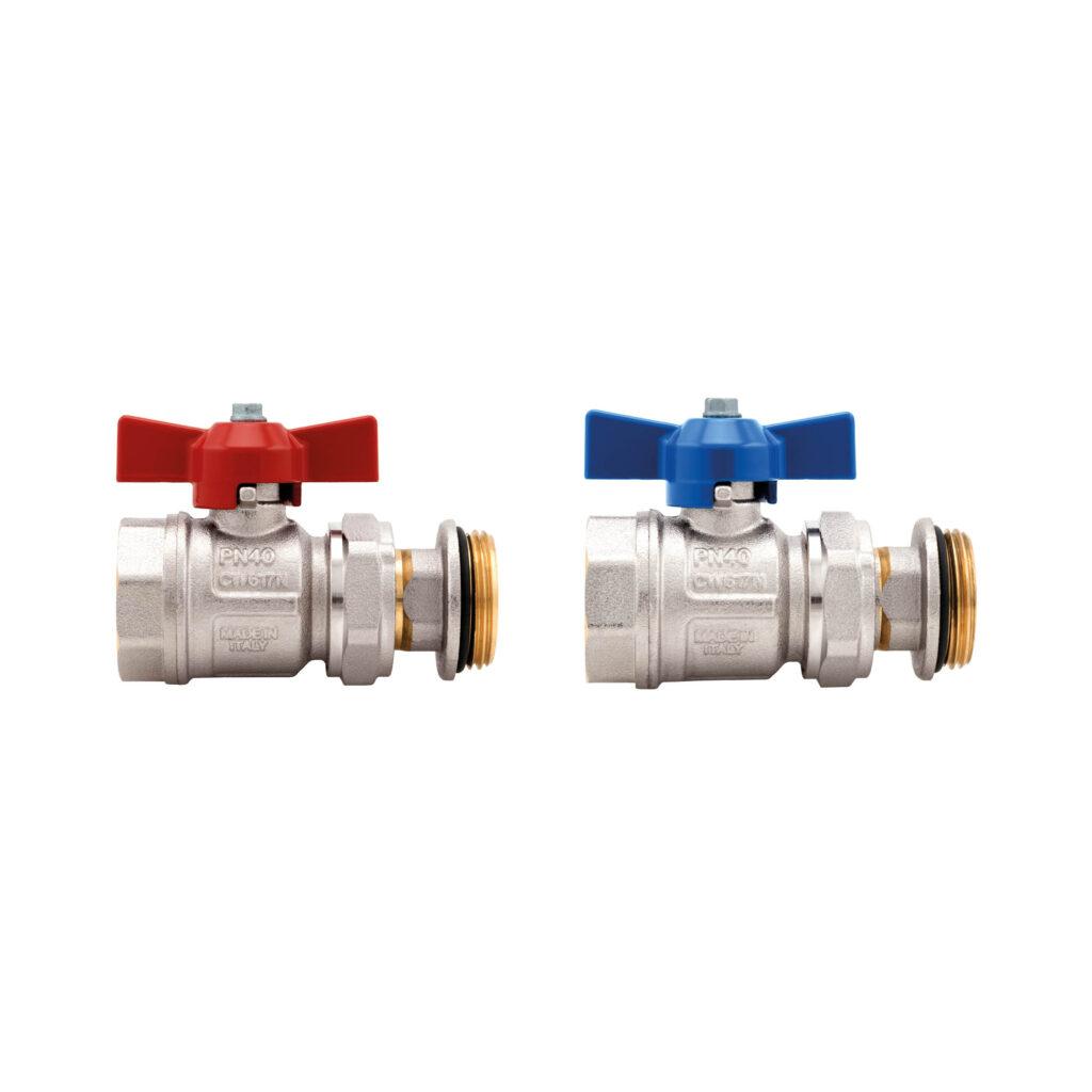 Straight ball valves kit – Compact - 098RSK
