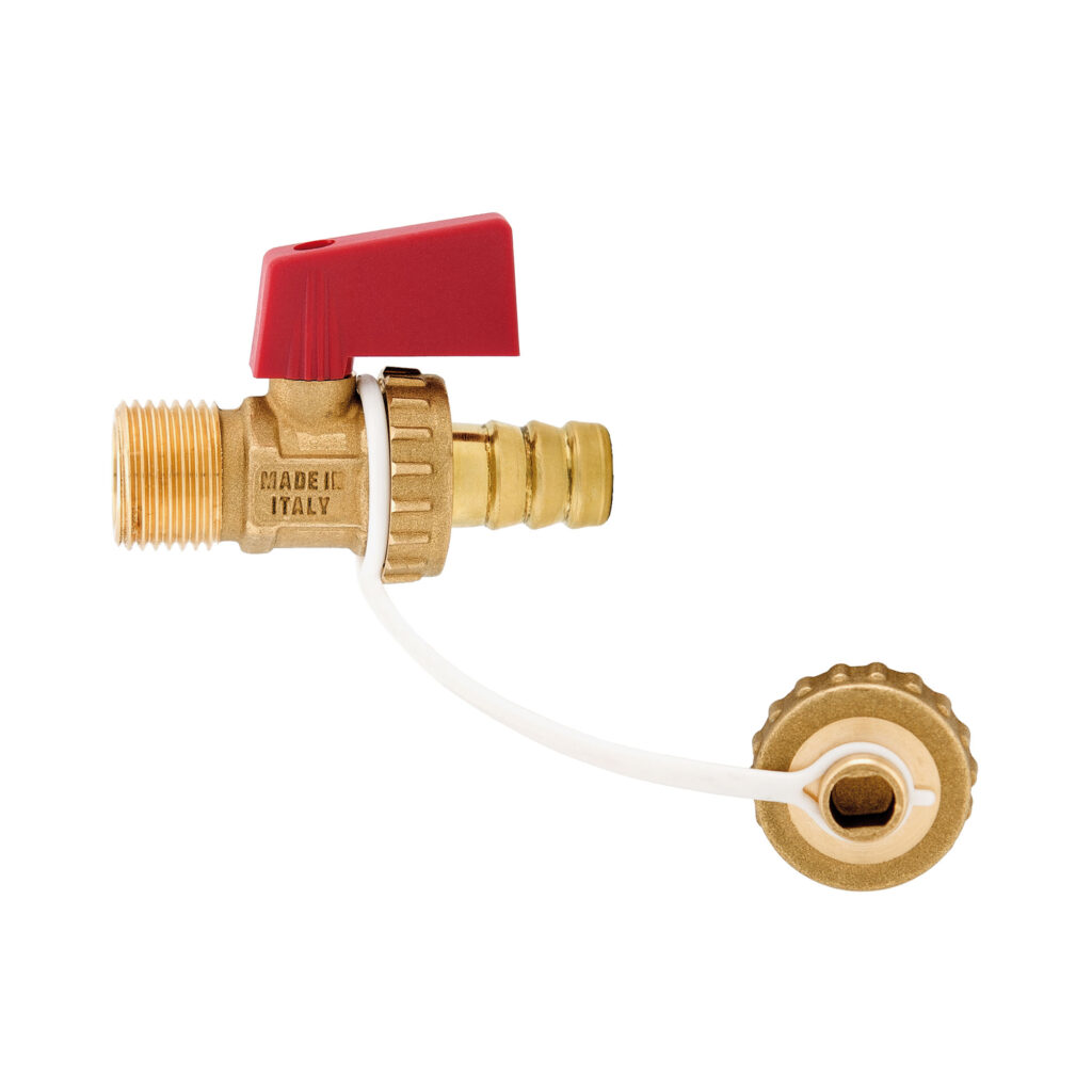 Drain ball valve with brass hose connection and nylon handle - 139R