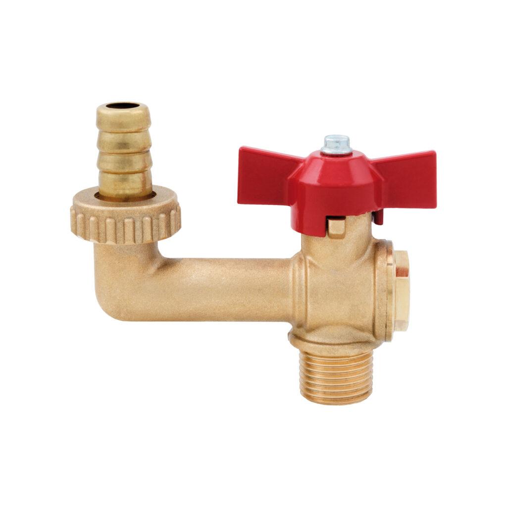 Garden hose bibcock with brass connection - 191