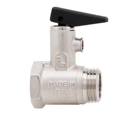 Válvula de seguridad para calentador de agua con palanca