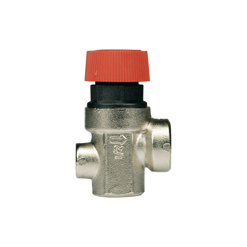 Diaphragm safety relief valve with pressure gauge connection, female/female thread - 368M