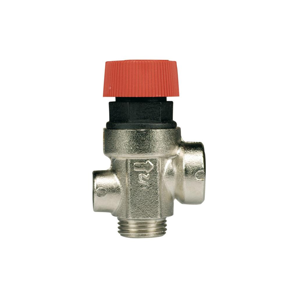 """Soupape de sécurité à membrane avec raccord manomètre 1/4"""" mâle/femelle - 369M"""