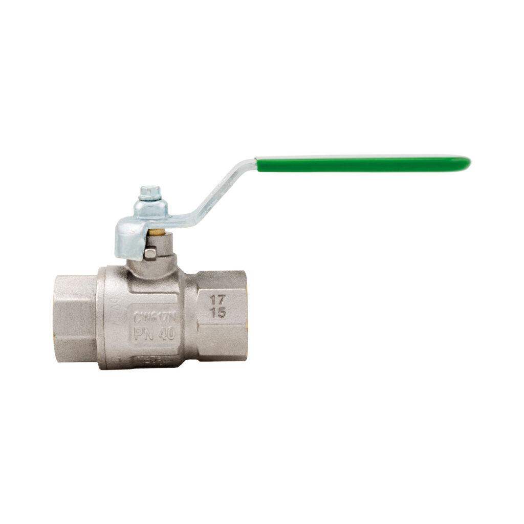 Green DVGW ball valve, full flow - 376