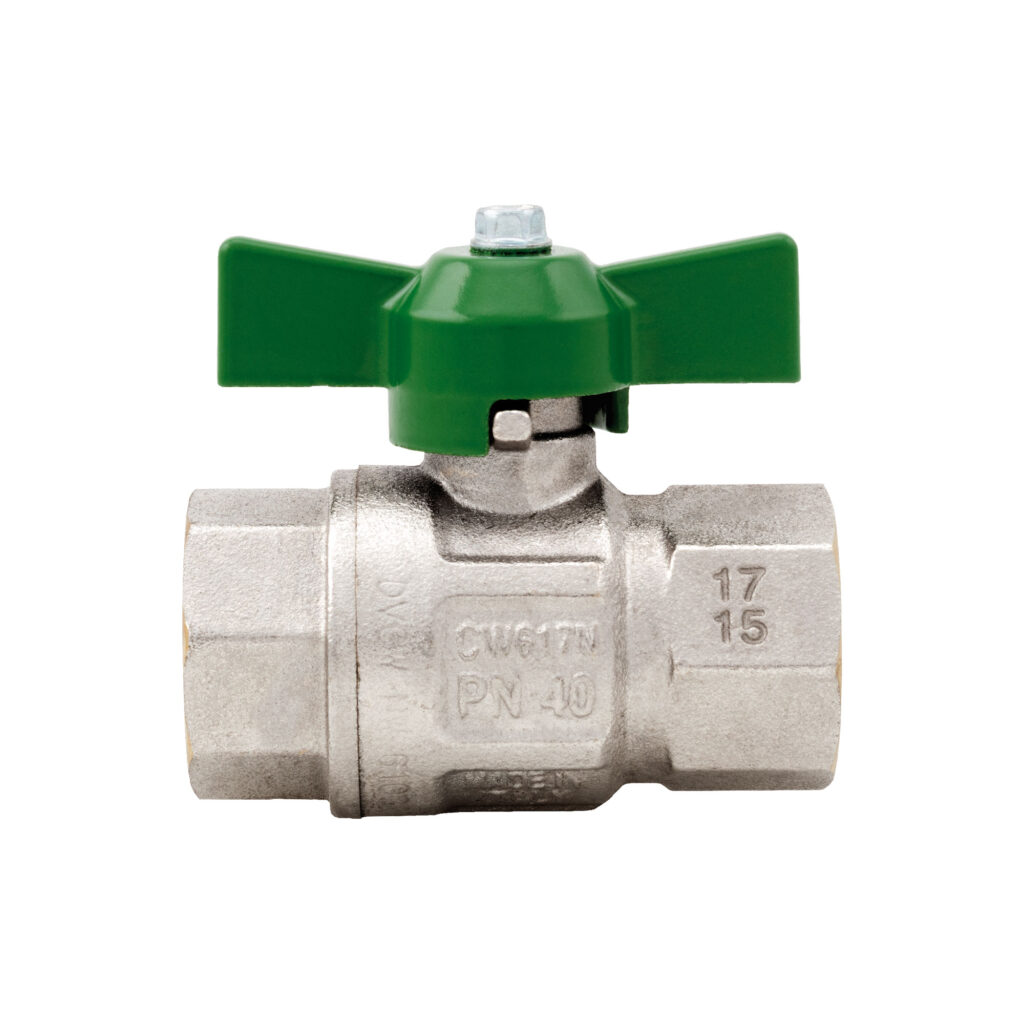 Green DVGW ball valve, full flow - 378