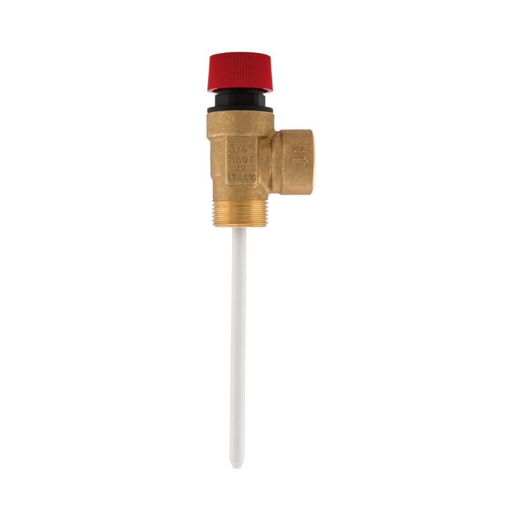Soupape de sécurité combinée température et pression pour installations solaires - 477