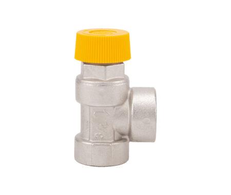 Мембранный предохрани тельный клапан-ВВ резьба- для солнечных систем отопления