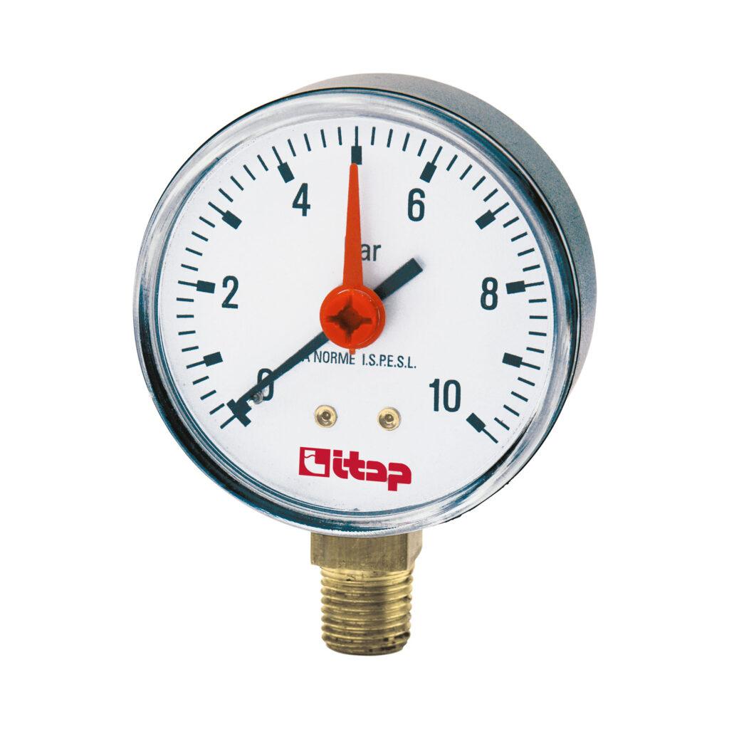 Pressure gauge, bottom connection, 0-10 bar - 482
