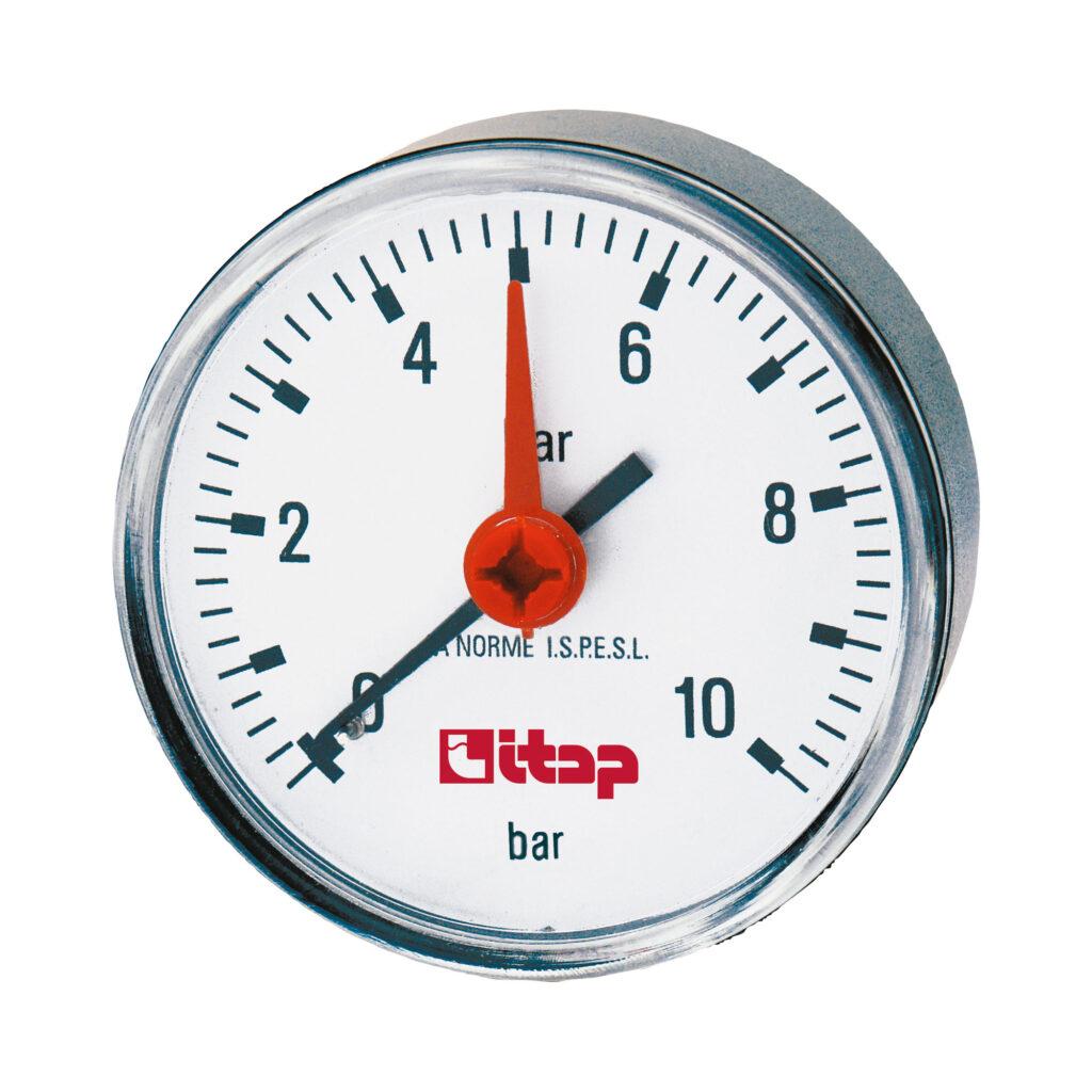 Pressure gauge, back connection, 0-10 bar - 483