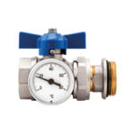 Straight ball valves kit and thermometer – Compact - 487K01R
