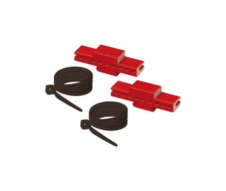 Kit di fissaggio collettori complanari alla cassetta in plastica