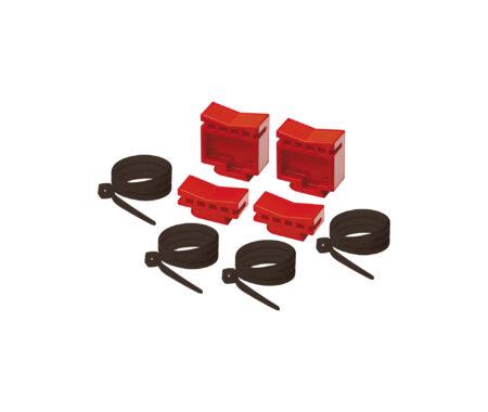 Kit di fissaggio collettori semplici alla cassetta in plastica