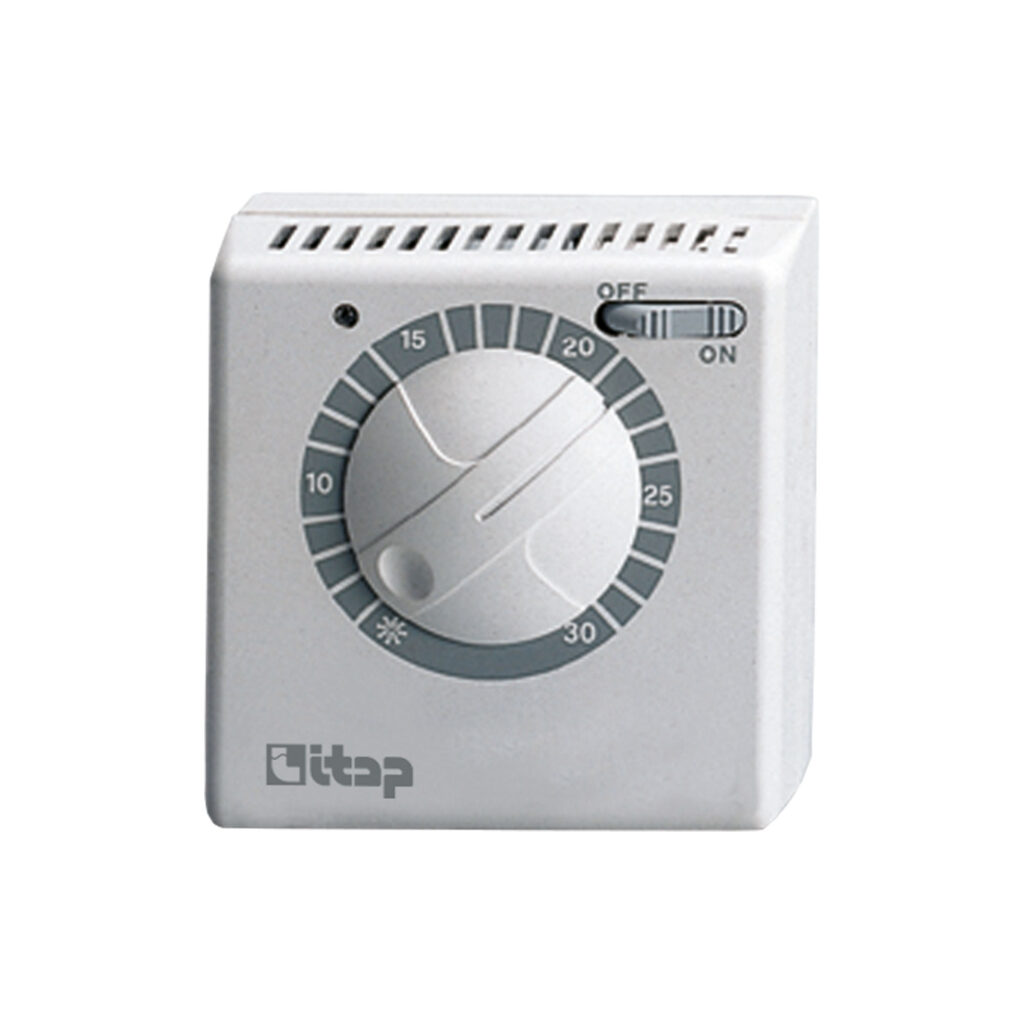 Mechanical room thermostat with changeover switching, on/off functioning led - 820CS
