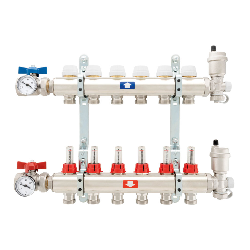 Complete pre-assembled manifold, with flow meters - 905C