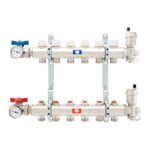 Complete pre-assembled manifold, with lockshields - 910C