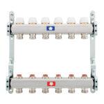 Pre-assembled manifold with lockshields - 922C