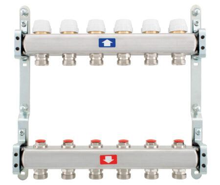 Укомплектованный коллектор с запорными клапанами