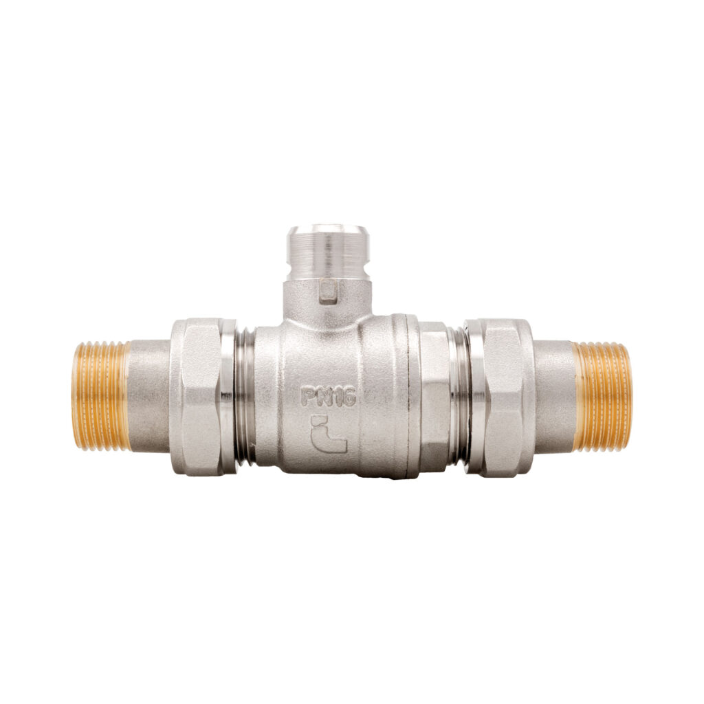 2-way zone ball valve with double union connection - 981
