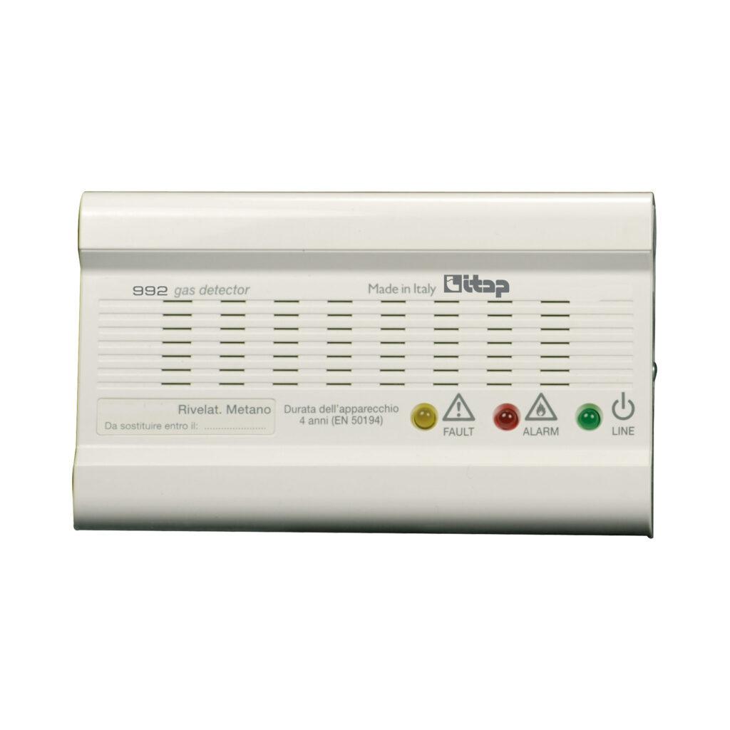 Détecteur de fuites de gaz avec alarme optique et acoustique et commande relais - 992M
